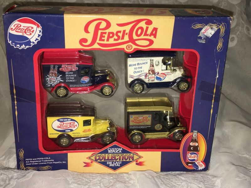Pepsi Cola Custom Vehicle Replica Collection Die Cast Car Golden Wheel Set Soda