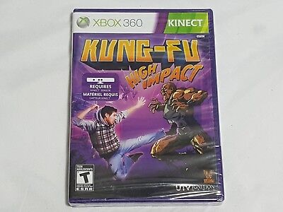 NEW (Read) Kung-Fu High Impact XBox 360 Kinect Game SEALED kungfu US NTSC for sale  Shipping to India