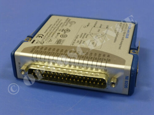 National Instruments NI 9205 cDAQ Analog Input Module, 32 Channels, D-Sub