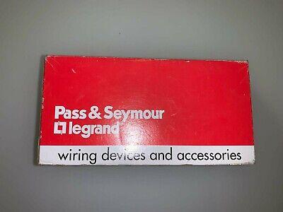 Pass Seymour Legrand Single Pole Switch Ps20c-w Box Of 10