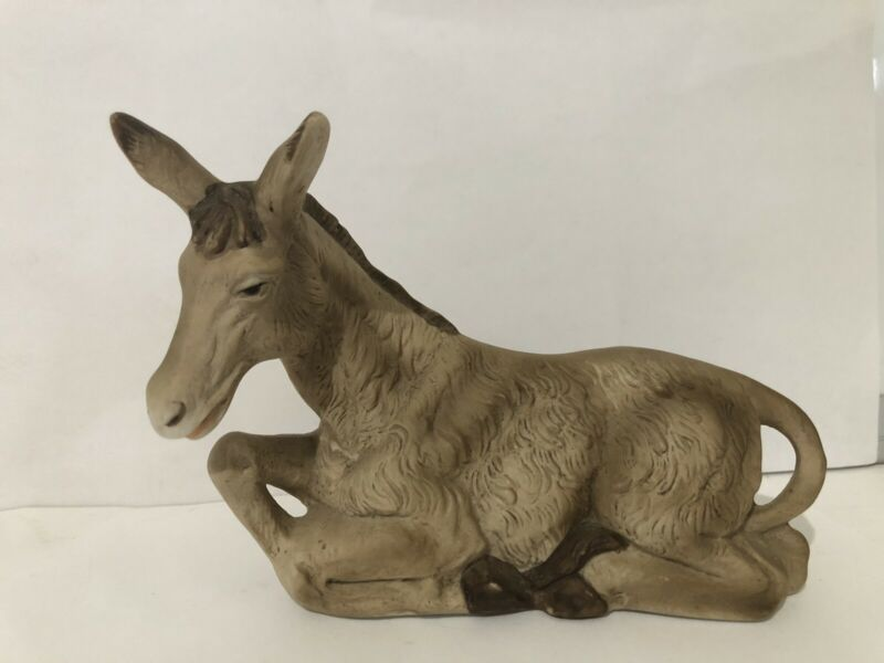 HOMCO Nativity Donkey Replacement Home Interior 5260 EUC