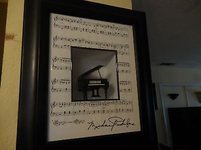 Shadow box Grand Piono Signed Piece by Michael 18.5