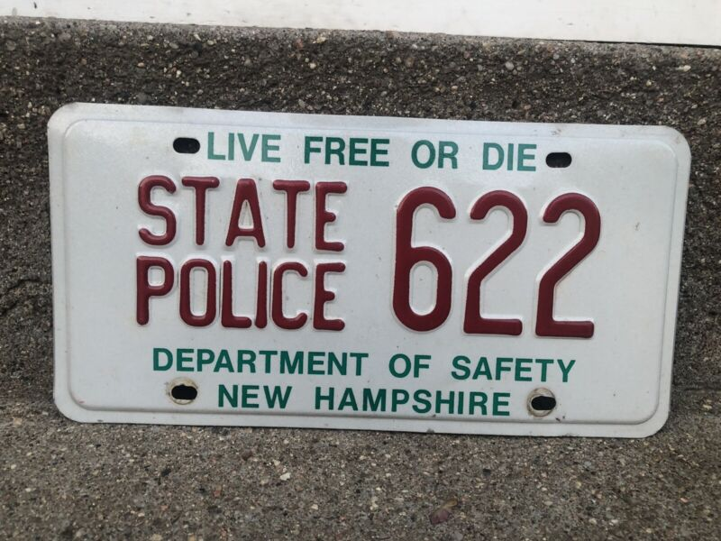 New Hampshire State Police License Plate Tag Patrol Trooper NH Live Free Or Die