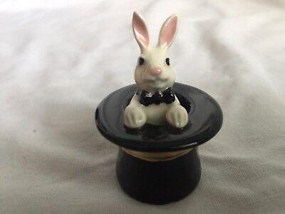 Hagen Renaker mini rabbit in hat