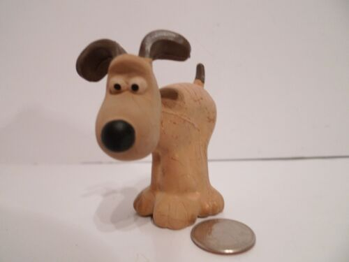 "Vintage WALLACE & GROMIT the Dog Rubber 3"" Figure by LANCO Spain RARE Nick Park"