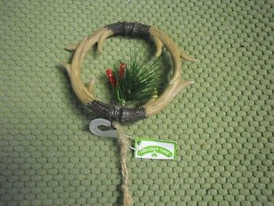 New ! Christmas Tree Holiday Hanging Ornament Deer Antler Lodge Theme 5