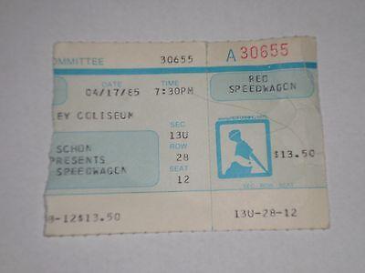 REO Speedwagon Concert Ticket Stub-1985-Beasley Coliseum-Washington State-WA