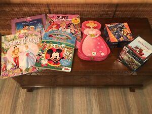 4 livres Disney et 3 casse tête