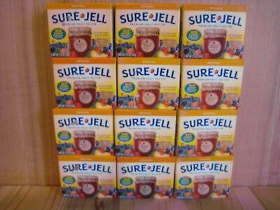 Sure Jell ORIGINAL Premium Fruit Pectin 1.75 oz Per Box Lot of 12 Exp APR 2020