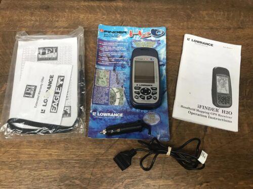 Lowrance H2O iFINDER handheld GPS unit marine Boat Ice Fishing Cord 12v Bundle