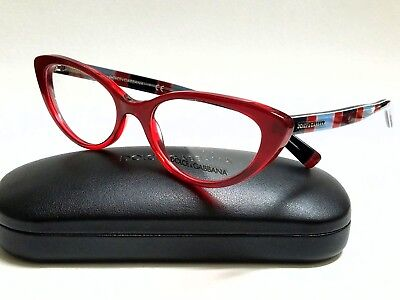 New Authentic DOLCE & GABBANA DG3162P 2714 Red 54/18/140 Rx Eyeglasses