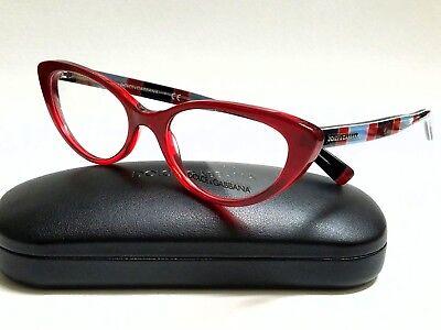 da229269d99 New Authentic DOLCE   GABBANA DG3162P 2714 Red 54 18 140 Rx Eyeglasses