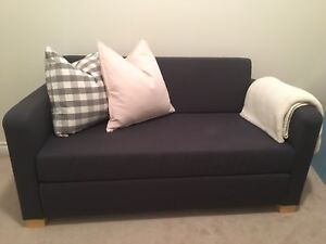ikea solsta love seat sofabed navy