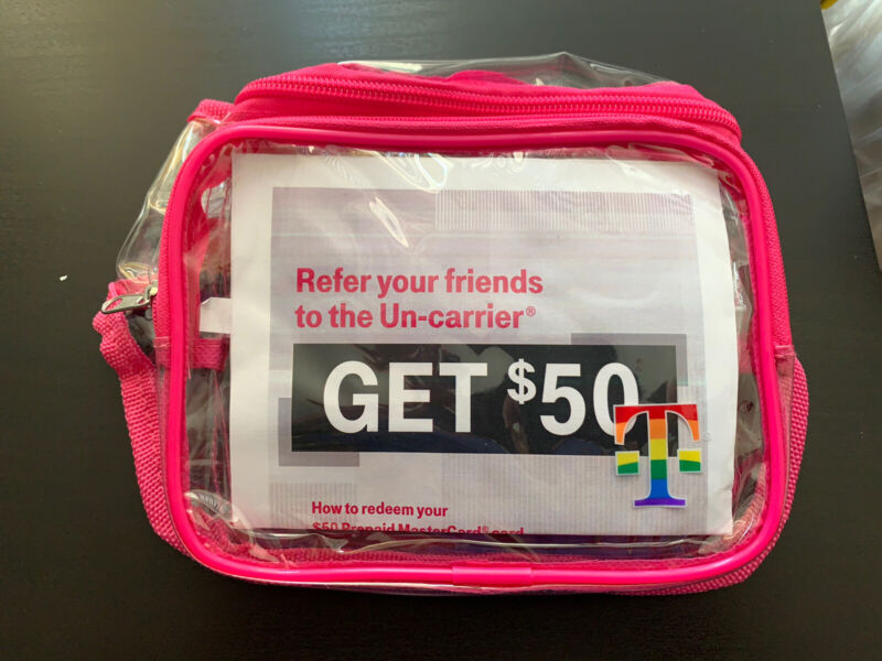 T-mobile Tuesday Fanny Pack Bag with Rainbow Strap