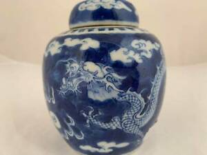 A Chinese Blue and White Dragon Jar/Vase
