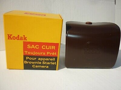 Sac cuir appareil photo Kodak Brownie Starlet ref 5551 neuf dans sa...