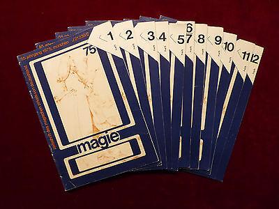 Magie, Zeitschrift des magischen Zirkels von Deutschland, 55.Jhg.1975, Zauberei