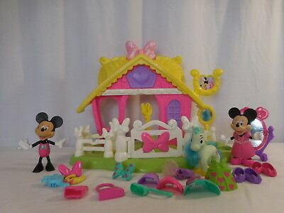 Fisher Price Disney Minnie Mouse Jump n Style Pony + Mickey + Clothes and Shoes