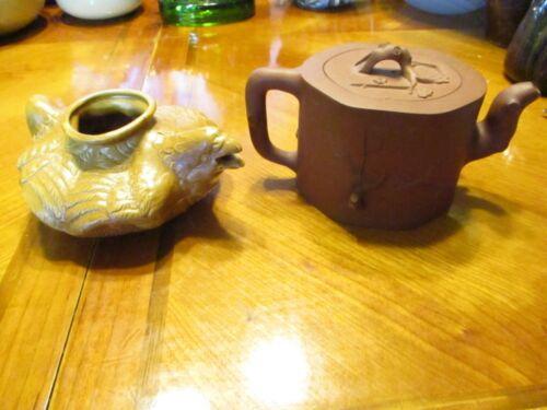 VINTAGE TEA POTS- 1 ZISHA PURPLE CLAY YIXING CLAY PHOTOS