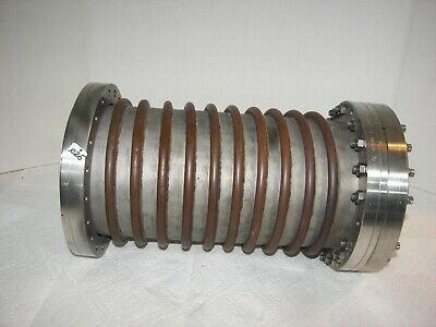 Varian High Vacuum Research Chamber 8 Reducer Flange 2-way Copper Tubing