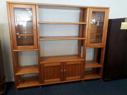 Large solid timber cabinets / wall units | Cabinets | Gumtree ...