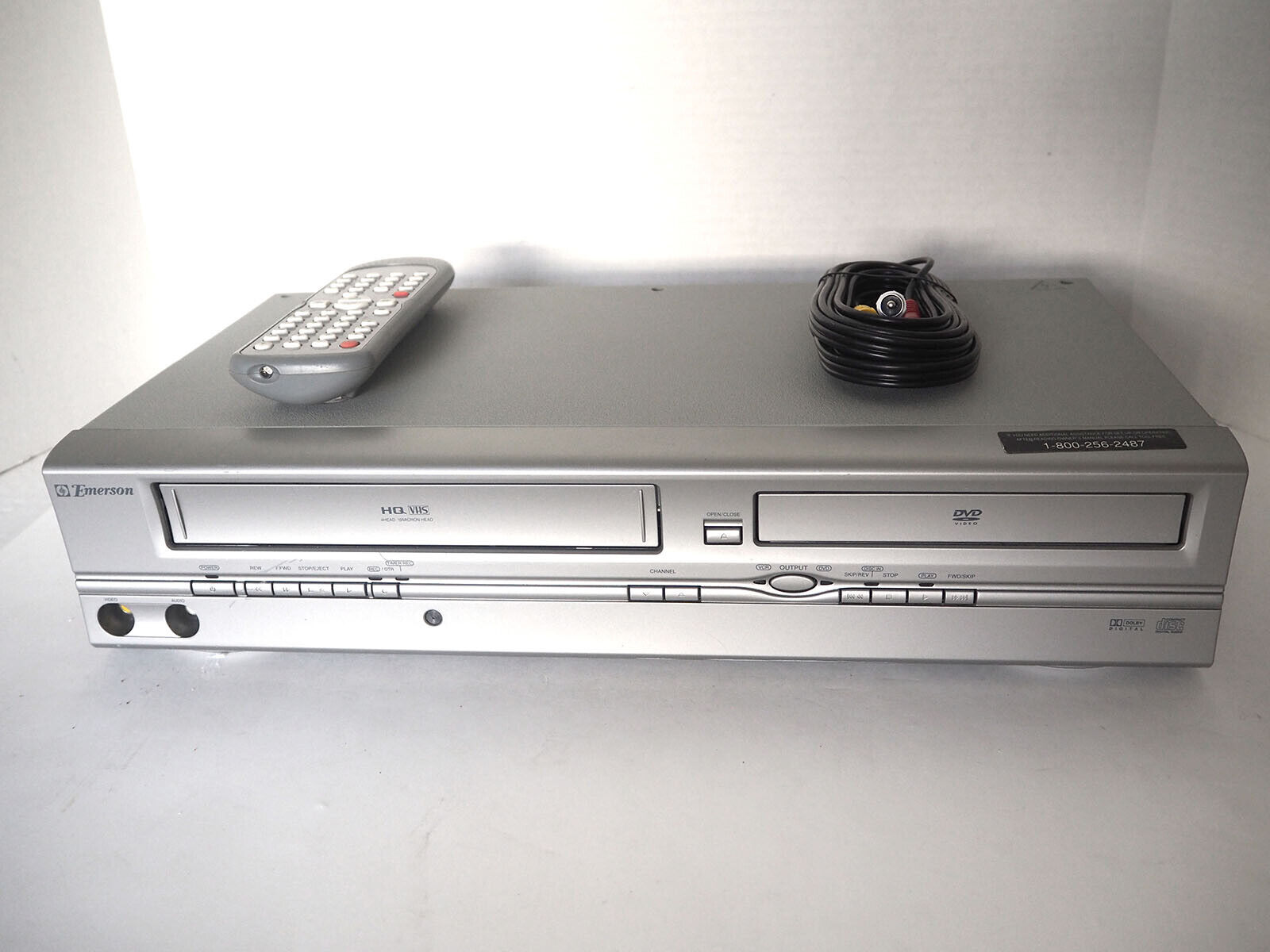 Emerson EWD2004 DVD VCR Combo Player VHS Recorder With Remote - $68.99