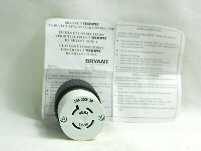 Bryant 70820 FR Locking receptacle Nema L8-20 20A 480VAC