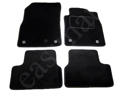 Car Parts - Vauxhall Astra J Mk6 Carpet Car Mats 2010 – 2015 Tailored Black 4pcs Floor Mat S
