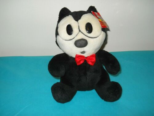 Vintage Felix the Cat Plush Toy Collectible with Original Tag