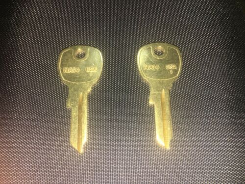 2 NA14 (NATIONAL 14) key blanks, New Taylor brand, solid brass blank