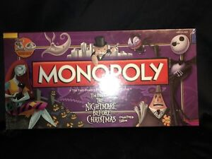 Monopoly Nightmares Before Christmas Limited Edition