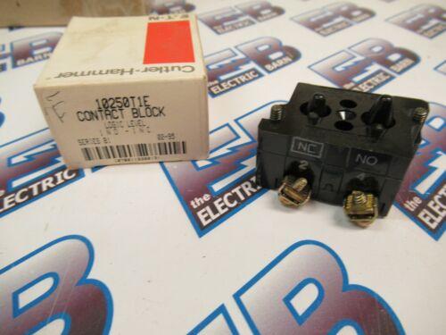 Cutler Hammer 10250T1E, Series B1, Contact Block, 1 N.O.- 1 .N.C. -NEW-B