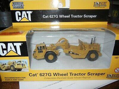 1:87 Scale Caterpillar 627G Wheel Tractor Scraper Diecast Model Norscot 55134