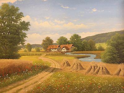 Ludwig Schöngarth - Landschaft im Sauerland - Öl auf Leinewand 60 x 90 cm