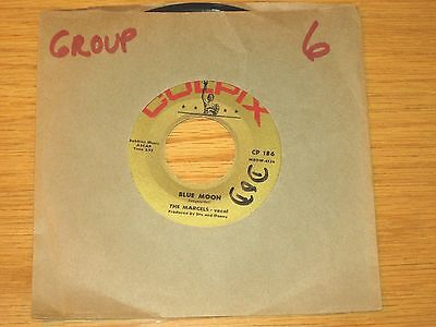 Doo Wop Group 45 Rpm   The Marcels   Colpix 186   Blue Moon     Goodbye To Love