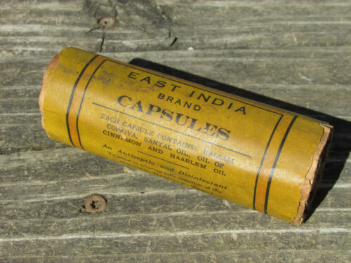 Antique 1900's EAST INDIA Capsules SANTOL OIL - Gonorrhea VD Treatment - NOS !!