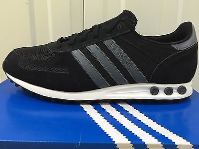 MEN,S ADIDAS ORIGINALS LA TRAINER BLACK / GREY  TRAINERS B33991