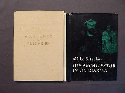 Buch, Prof. Milko Bitschev, Die Architektur in Bulgarien, Sofia um 1978