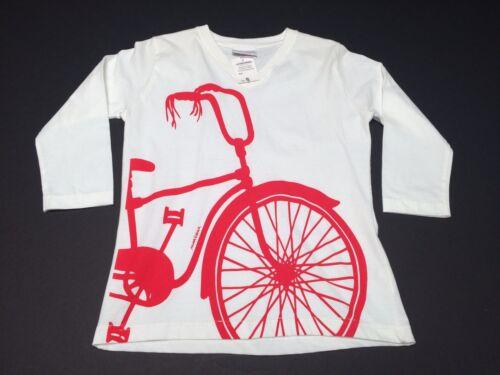 New (S) MURUSHKA Handprints White Long Sleeve Bike Bicycle Shirt Mid Century Mod