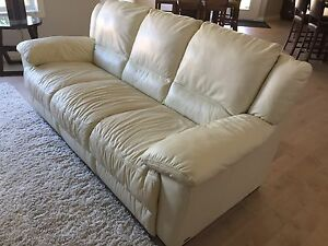 Leather Couch & Ottoman