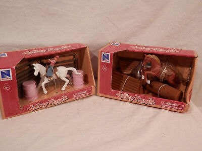 Valley Ranch Horse & Rider & Barrel Racer jumping playsets 2 sets
