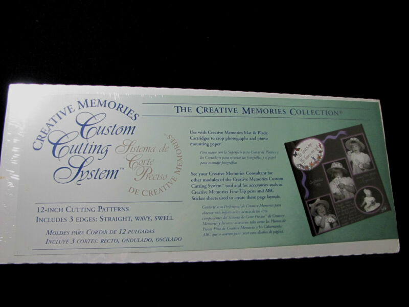Creative Memories Cutting System Cutting Patterns 3 Edges Straight, Wavy,  Swell