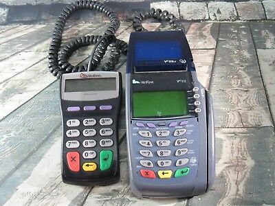 Verifone Vx510 Omni 3730 Credit Debit Card Reader Swiper With Pin Pad - As Is