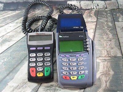 Verifone Vx510 Omni 3730 Credit Debit Card Reader Swiper With Pin Pad - As Is