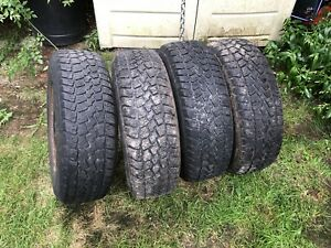 Set of four tires