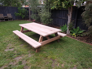 2400 long 100 % Aussie hardwood picnic table / bench Narre Warren Casey Area Preview