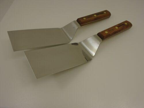 Dexter S8696 Set of (2) Wood Squared 6x3 Spatulas Hibachi Teppanyaki Factory 2nd