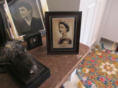 Queen Elizabeth II - Sepia Portrait in Frame