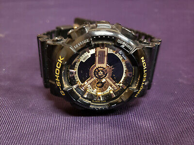 Used Casio G-Shock Digital Anti-Magnetic Black Mens Watch GA110GB w/Gold Dial comprar usado  Enviando para Brazil