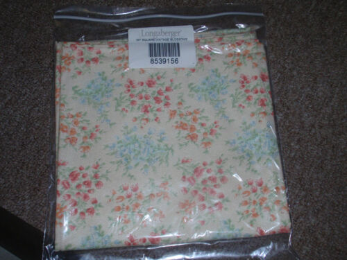 """Longaberger 36"""" TABLE SQUARE OR OVERLAY in """"VINTAGE BLOSSOMS"""" Fabric, NEW!"""